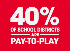 40% of School Districts are Pay-to-Play